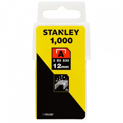 Agrafos 1-TRA208T 12.0MM 1000UNID. STANLEY