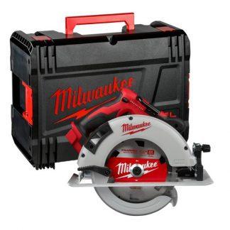 Serra circular para madeira sem escovas M18™, diâmetro de disco 190mm, profundidade máxima de corte 66mm, 5000rpm. Fornecida em versão zero