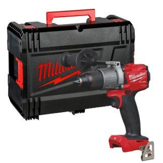 Berbequim aparafusador M18 FUEL™, 2 velocidades, torque máximo 135Nm, bucha aperto rápido 13mm. Fornecido em versão zero, sem baterias nem carregador, em HD-box