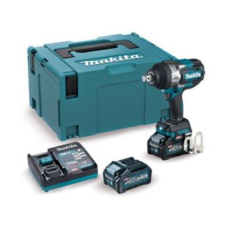 "Chave impacto BL 40Vmax XGT 1.800Nm 4Ah 2 baterias 3/4"" mala makpac makita"