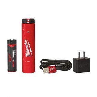 Kit Bateria 3A.h e Carregador REDLITHIUM™ USB Milwaukee L4 NRG-201