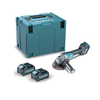 Rebarbadora BL 40Vmax XGT 115mm SAR 4Ah 2 baterias Freno/Dial/AFT/AWS com mala Makpac