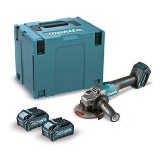 Rebarbadora BL 40Vmax XGT 125mm SAR 4Ah 2 baterias AFT mala Makpac
