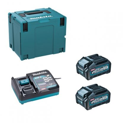 Rebarbadora BL 40Vmax XGT 125mm SAR 4Ah 2 baterias Freno/Dial/AFT/AWS com mala Makpac