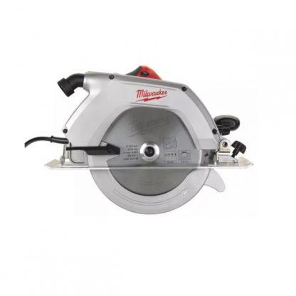 Serra circular para madeira 2200W, 4500rpm, diâmetro de disco 235mm, profundidade máxima de corte 85mm, arranque suave, base de alumínio