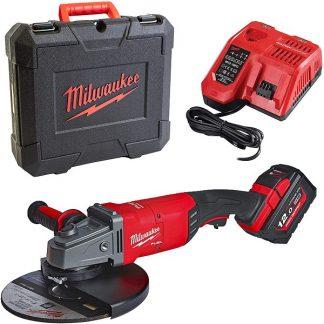Rebarbadora M18 FUEL™, diâmetro de disco 230mm, 6600rpm, AVS, FIXTEC™, DMS. Fornecida com 1 bateria HIGH OUTPUT™ M18HB12 e carregador rápido M12-18FC, em kitbox