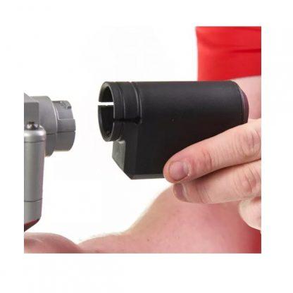 Rebitadora sub compacta M12™, diâmetro rebites 2,4-4,8mm INOX, força de tração 9000N, curso 20,32mm. Inclui 4 bocais. Fornecida em versão zero